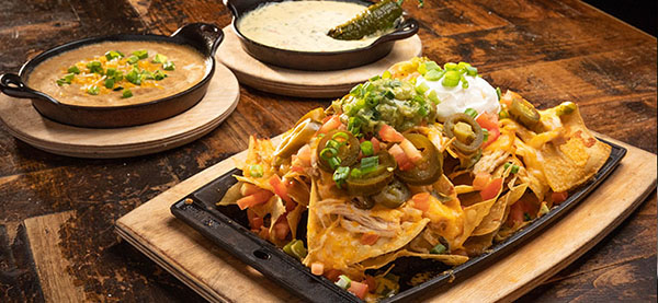 Ajo Al's Nachos with green chiles & cheese